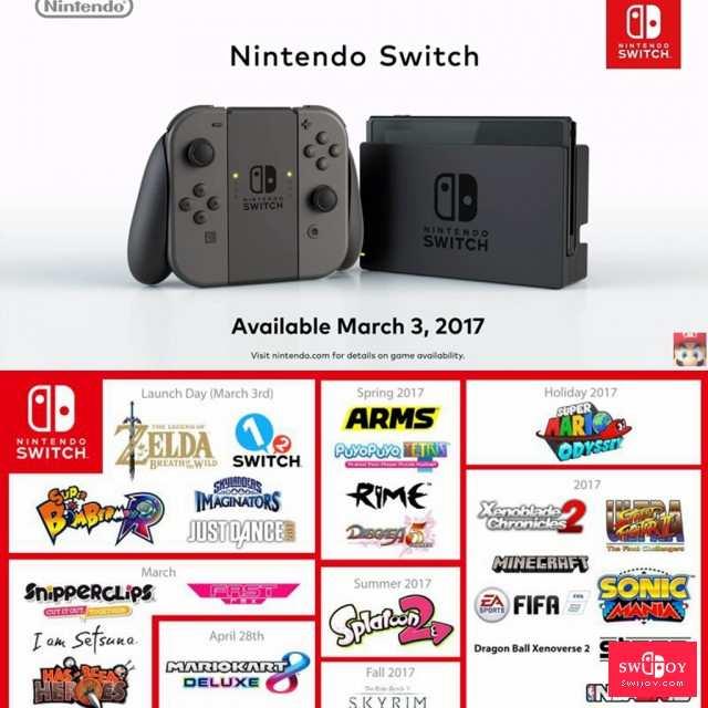 """任天堂Switch 传说中的新主机""""NX"""" 发售一周年回顾"""