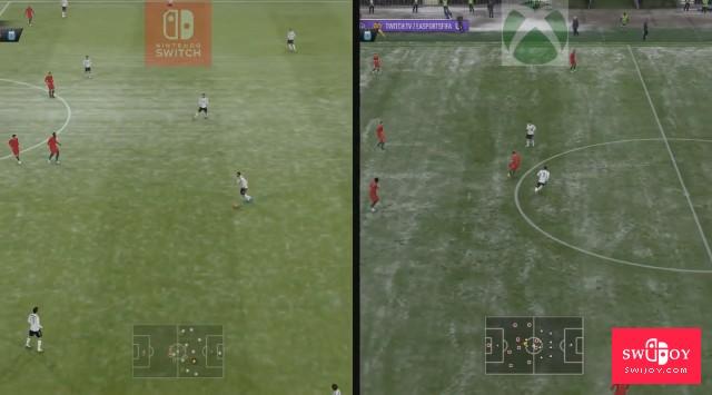 谁更强大?XboxOne与Switch版《FIFA 19》画面对比