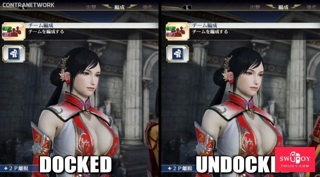 Switch《无双大蛇3》掌机模式与主机模式画质对比区别