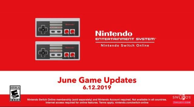 任天堂公布Switch六月在线服务会员免费游戏