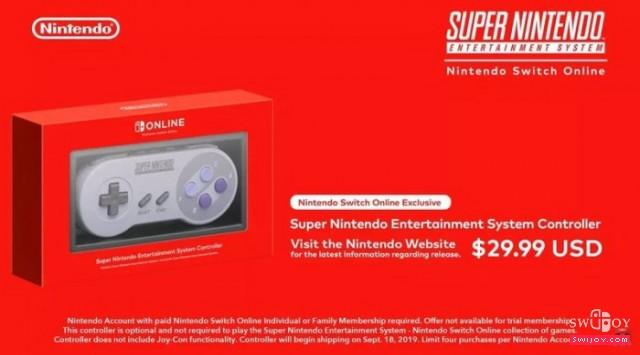 任天堂复古SNES无线Switch手柄正式发售