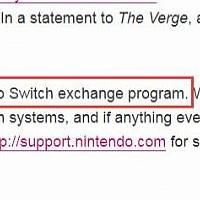 任天堂官方回应Switch以旧换新:绝无此事