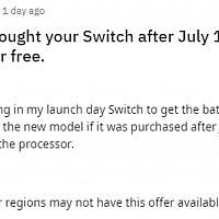 美国任天堂推出以旧换新服务 Switch用户可免费升级为续航增强版