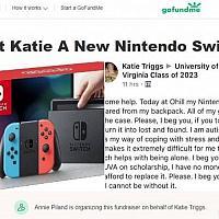 美国大学生Switch被盗 同学众筹为其再买一台