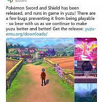 Switch《宝可梦:剑/盾》可在yuzu模拟器中流畅运行