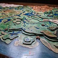 Switch玩家自制木板地形图还原《塞尔达传说:旷野之息》