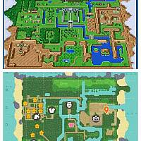 玩家在《动物森友会》中还原了《塞尔达传说》世界地图