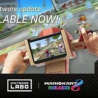 Switch《马里奥赛车8豪华版》免费更新:支持Labo体感
