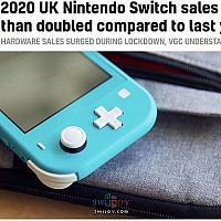 Switch主机2020上半年英国市场销量翻倍