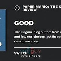 Switch《纸片马力欧:折纸国王》各媒体评分公布 IGN打7分