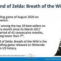 Switch《塞尔达传说:旷野之息》进入美国游戏市场任天堂历史销量前十