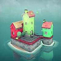 Switch创意城镇建造游戏《Townscaper》将于今夏发售