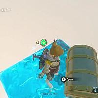 Switch《塞尔达传说:旷野之息》隐藏在水底的宝箱被大神打开