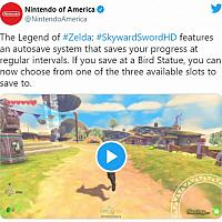 Switch《塞尔达传说:御天之剑HD》可自动存档 同时有3个手档可选