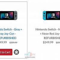 价格更实惠的官翻版Switch在任天堂美国官网上架