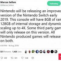 8G 4K 强化版Switch2019年初推出 将有独占游戏