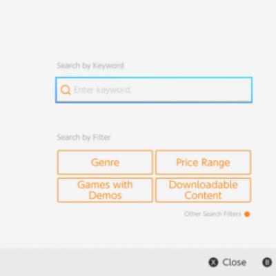 Switch eShop搜索页面新增价格DLC等筛选功能