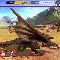 Switch《任天堂明星大乱斗:特别版》试玩视频发现还可以狩猎雄火龙