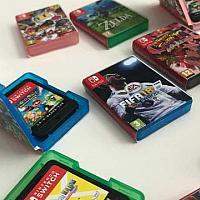 很有爱!老外自制任天堂Switch迷你轻便游戏卡盒
