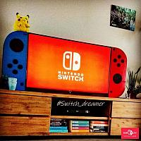 真爱了!玩家自制巨型Joy-Con做成Switch电视和桌子