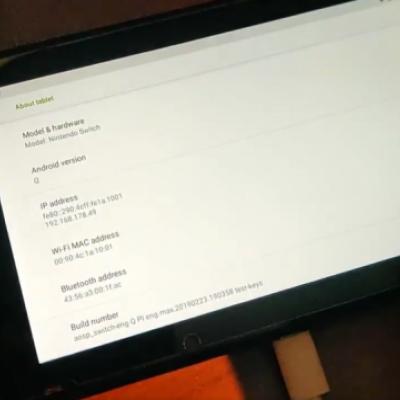 Switch游戏机已可以用安卓系统上网