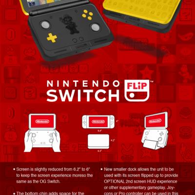 玩家概念设计廉价版折叠Switch Flip
