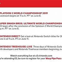 E3 2019任天堂直面会安排公布 两场竞标赛等你来参加