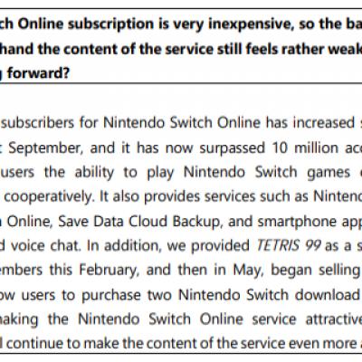 Switch在线服务会员达千万 将更富吸引力
